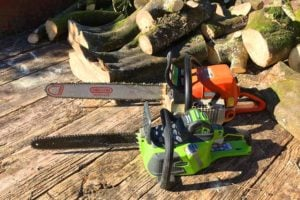Gas and Electric Chainsaw