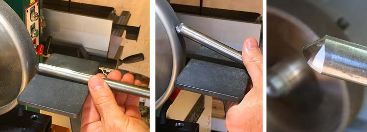 Micro Bevel Gouge Final Cutting Edge Grind Process