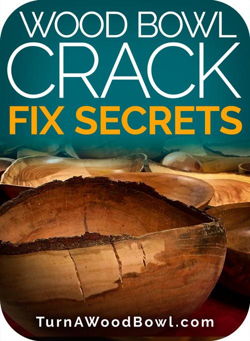 Wood Bowl Crack Fix Secrets Woodturning Repairing Cracks Turn