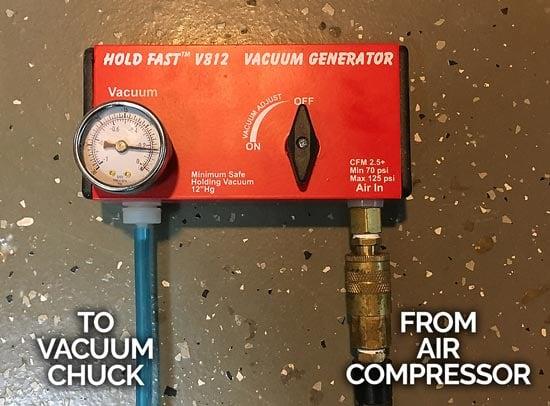 Tenon Removal Vacuum Chuck Regulator