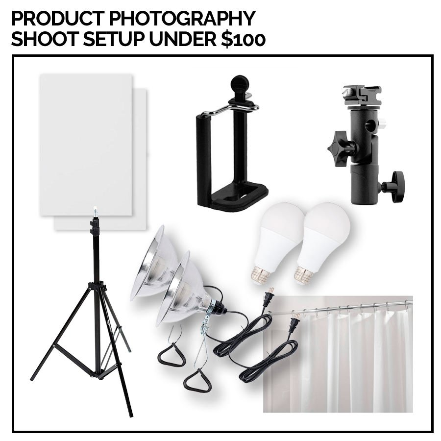 Product Photography Shoot Equipment Setup Under $100