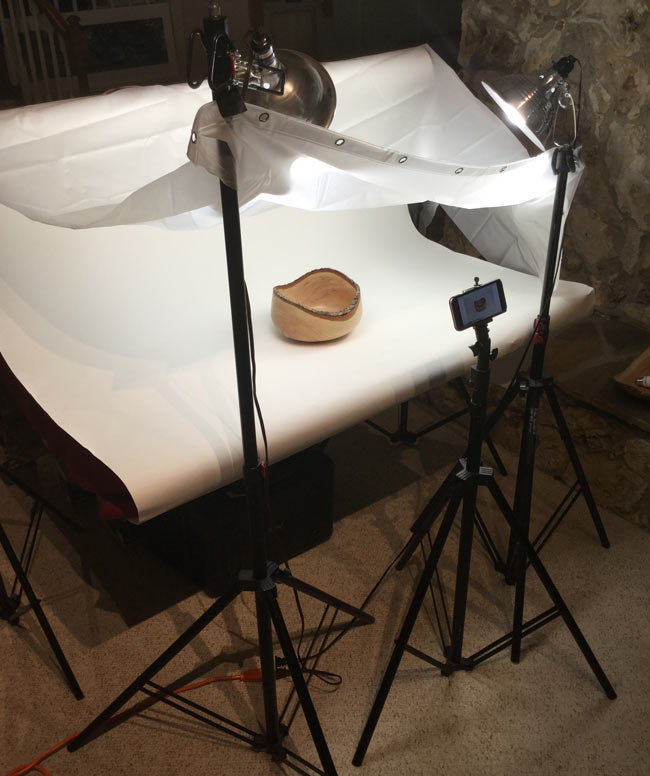 Product Photo Shoot Diffused Lights