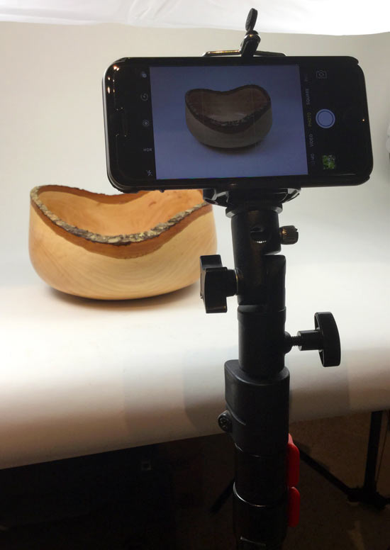 Product Photo Shoot Smartphone Support System