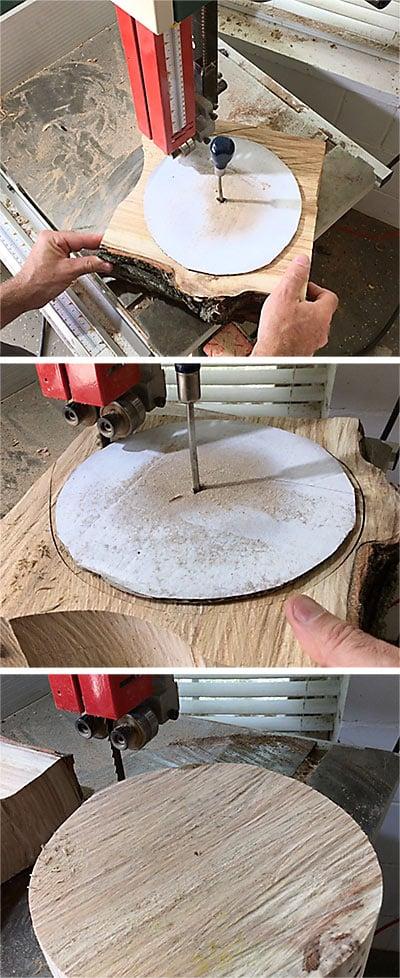 Quarter Sawn Bowl Blank Cut Bandsaw