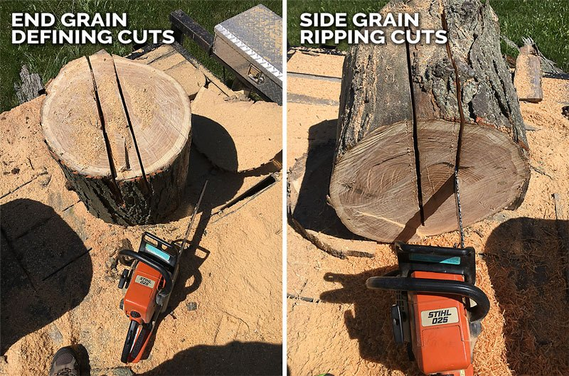 Quarter Sawn Wood Bowl Log Cuts