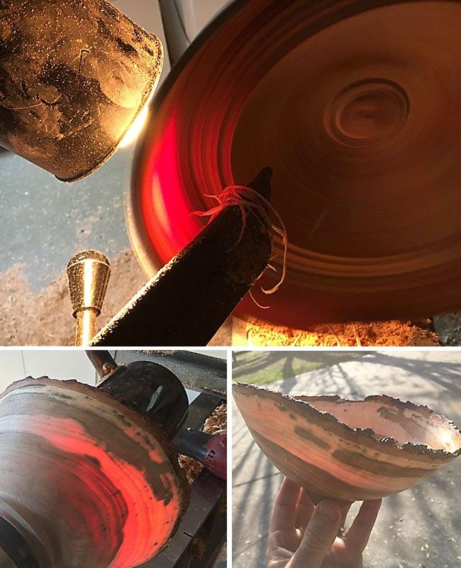 Turning Green Wood Bowls Thin