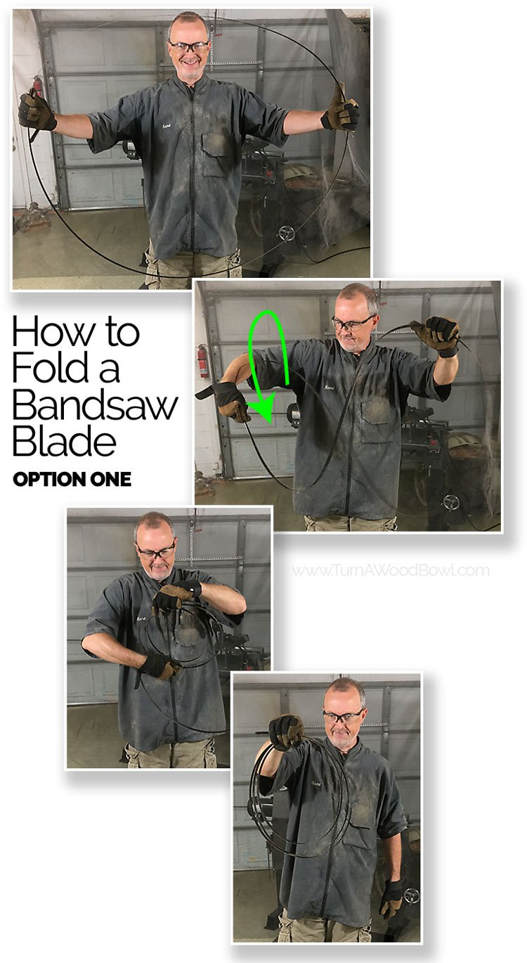 How To Fold Bandsaw Blade 1