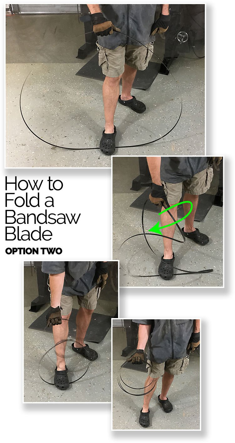 How To Fold Bandsaw Blade 2