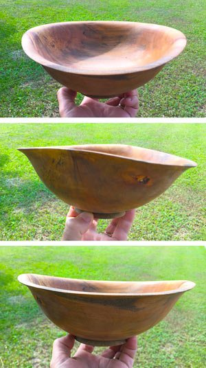 Drying Green Wood Bowls Once Turned Thin Wall
