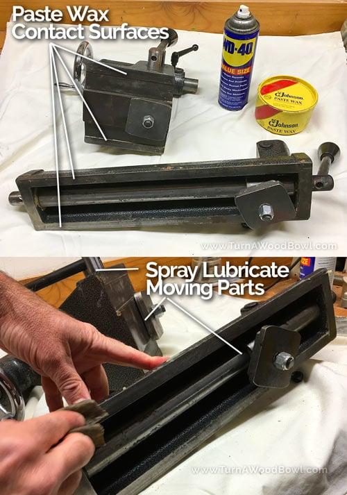 Wood Lathe Maintenance Lubricate Banjo Tailstock