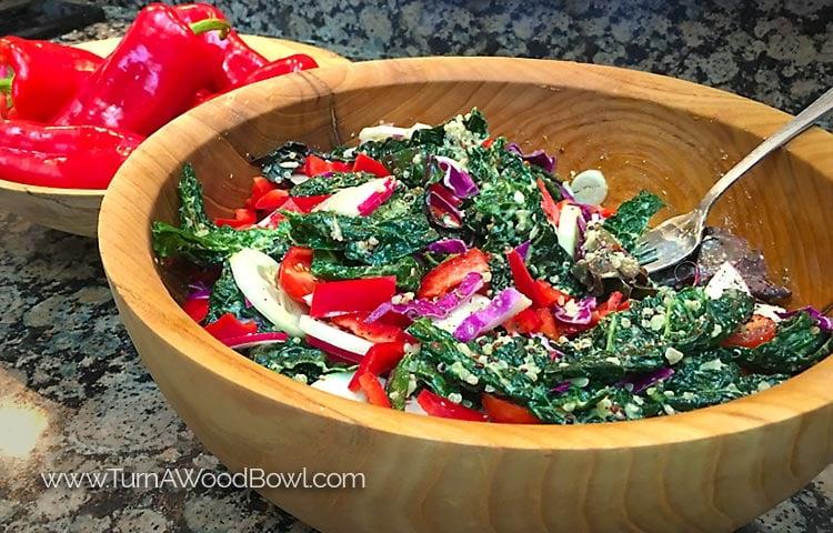 Salad Bowl Finish Food Safe Surprise 3 Options Detail Photo