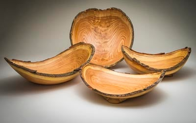 beginner bowl turning honey locust natural edge collection