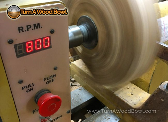Wood Lathe Speed RPM Readout