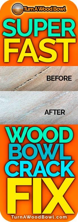 Wood Bowl Crack Fix Super Fast