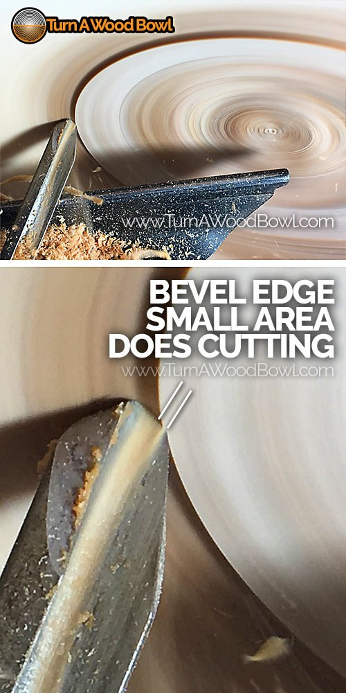 Bowl Gouge Bevel Edge Small Cutting Area