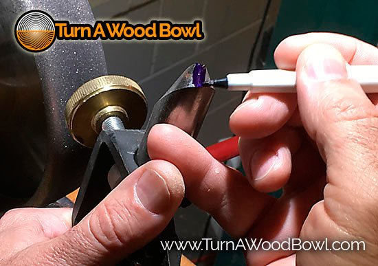 Bowl Gouge Sharpening Techniques Marking Bevel Surface