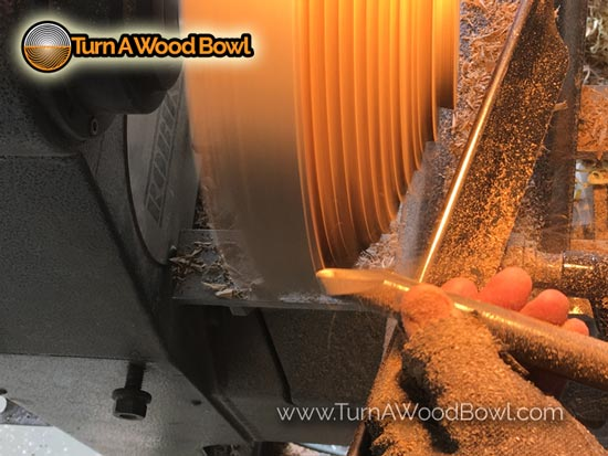 Bowl Gouge Unsupported Roughing Cut