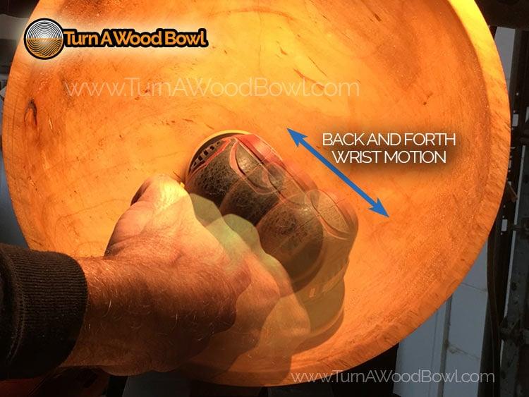 Bowl Sanding Tools Power Sanding Wrist Motion
