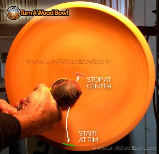 Bowl Sanding Tools Rim to Center Power Sanding