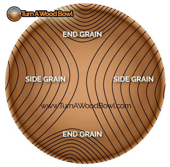 Wood Bowl Sanding Tools Top View Grain Pattern