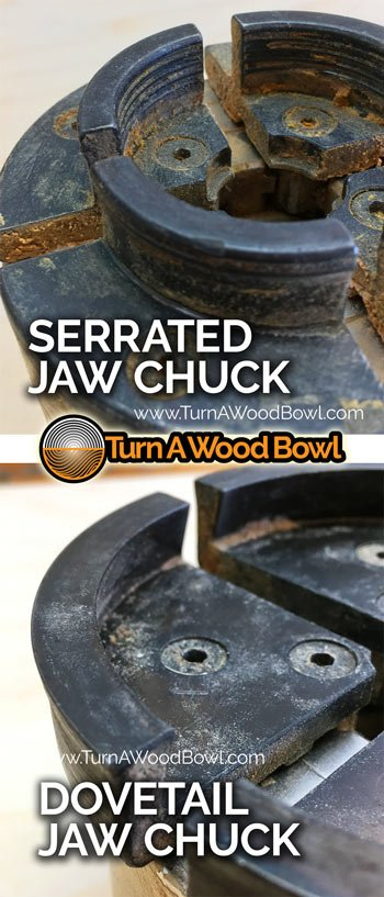 Dovetail Serrated Jaw Wood Chuck Examples