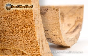 Grain Tear Out Wood Bowl Prevention