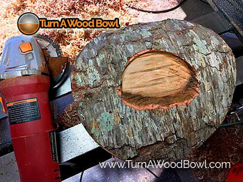 Live Edge Bowl Center Bark Removed