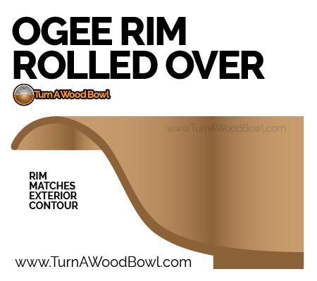 Ogee Bowl Rim Rolled Over