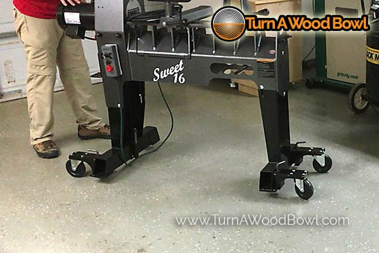 Robust Sweet 16 Wood Lathe Caster Roller System
