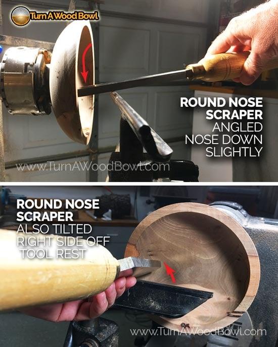 Round Nose Scraper Cutting Angles