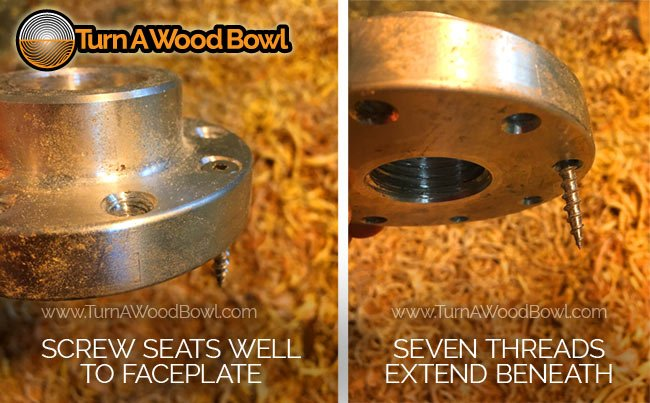 Screw Sized To Wood Lathe Faceplate