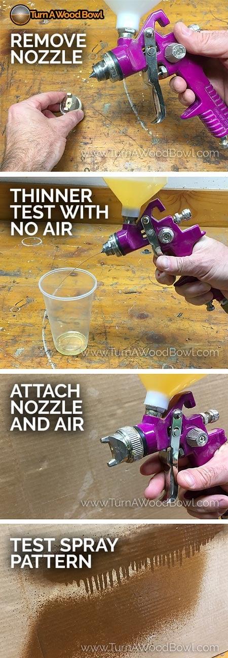 Spray Lacquer Sprayer Test Flow
