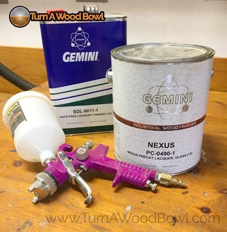 Spray Lacquer pre cat with matching thinner