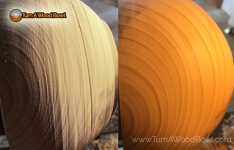 Tool Marks Removal On Wood Bowls Lathe