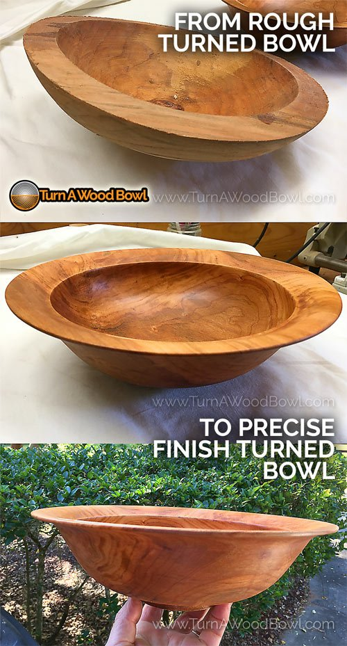 Twice Turn Bowl Wood Before After