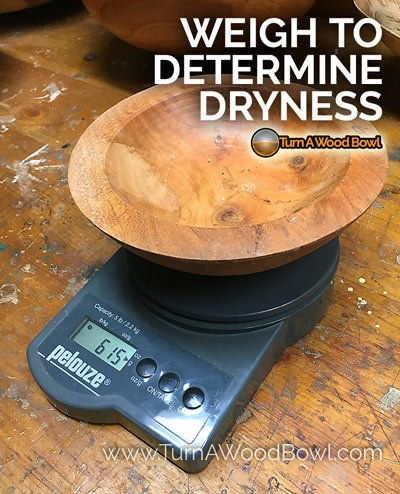 Twice Turned Bowl weigh measure dryness