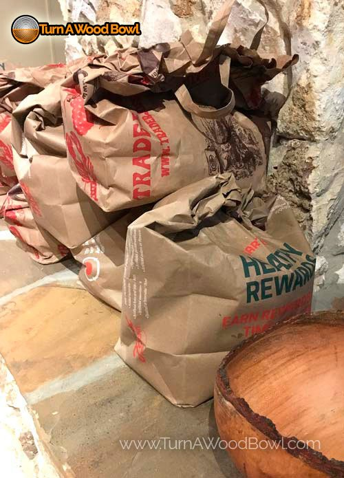 Wood Bowl Crack Paper Bag Slow Drying Prevention