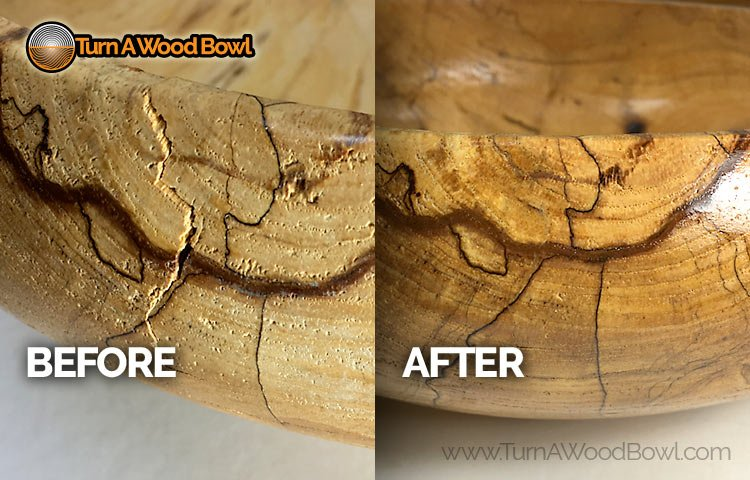 Wood Bowl Repair Before and After