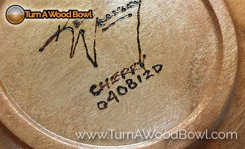 Wood Bowl Signed Serial Number System