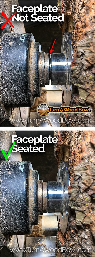 Wood Lathe Faceplate Seated Example