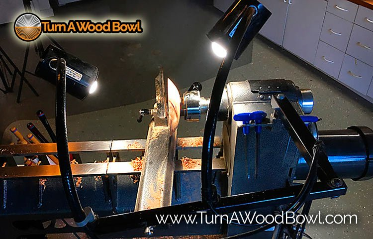 Wood Lathe Light Wood Bowl Turning Illuminated