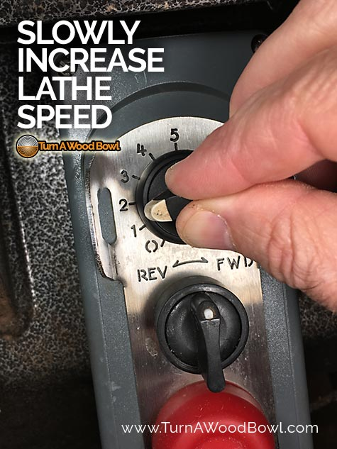 Wood lathe speed control slowly increase RPM