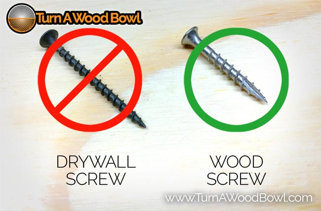 Wood Lathe Faceplate Screw Samples