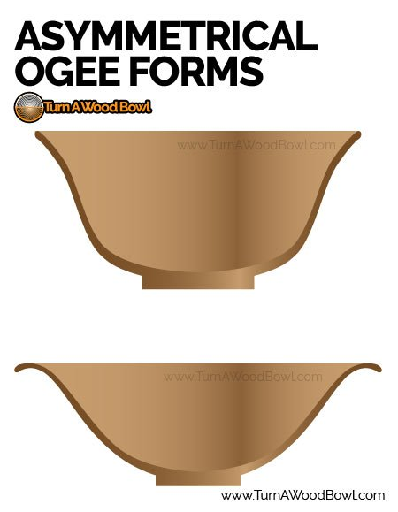 asymmetrical ogee bowl forms
