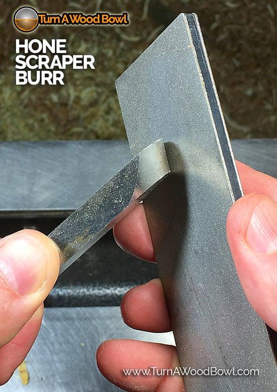 Hand Hone Scraper Burr Cutting Edge