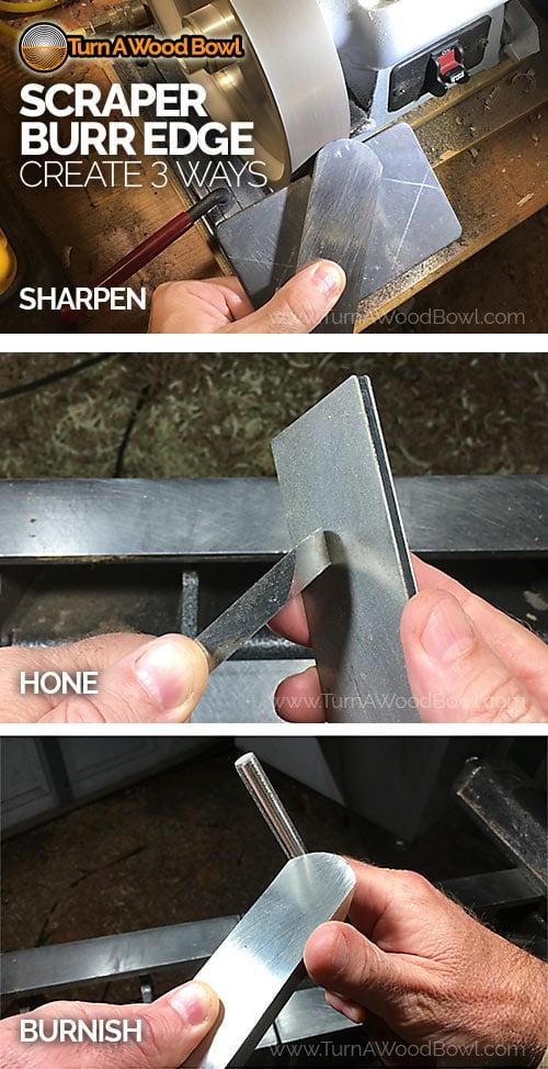 Scraper Sharpening 3 Ways Make Burr