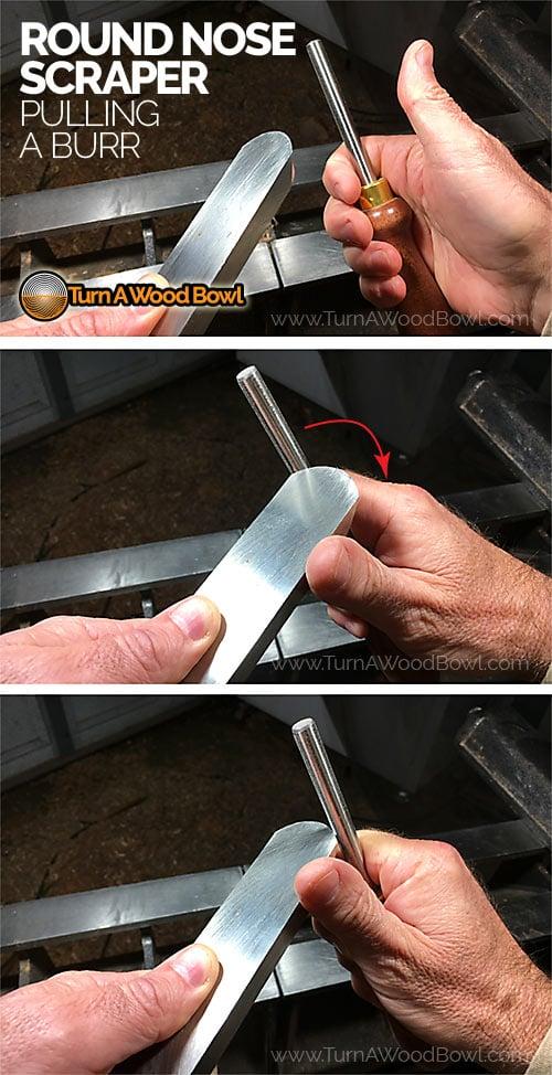 Scraper Sharpening Pulling Burr Burnishing