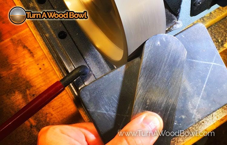 Scraper Sharpening Station Bevel Burr Angle Close Up Detail