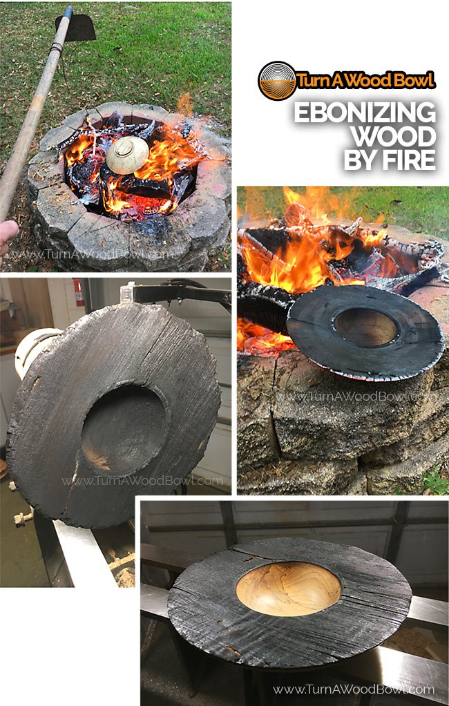 Ebonizing Wood Bowls By Open Fire