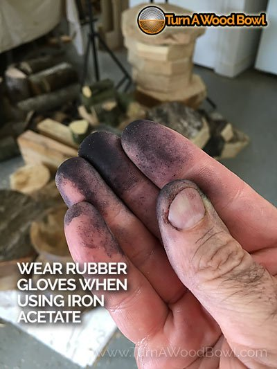 Iron Acetate Fingers Black Wear Gloves